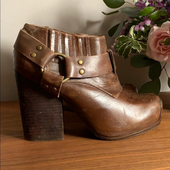 Jeffrey Campbell Brien Leather Western Heeled Boot
